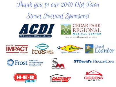 Thank you to our 2019 Old Town Street Festival Sponsors!-1